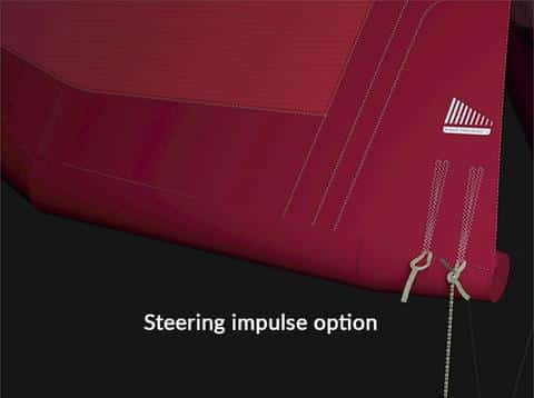 North kite technology - steering impulse adjustability
