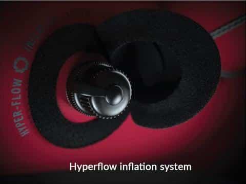 North Kiteboarding kite technology - Hyperflow Inflation System
