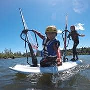 Kids Camp windsurfing lessons for kids
